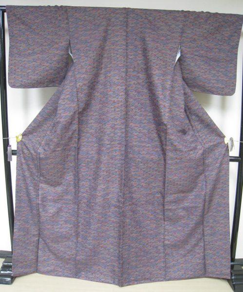 L 43袷紫地青海波Lサイズ2015