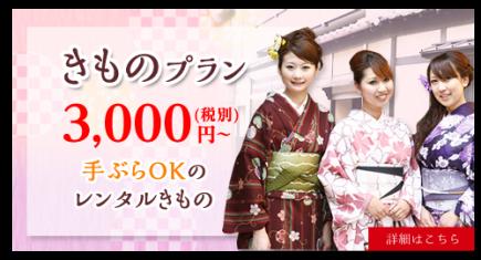 着物レンタル3,000円~